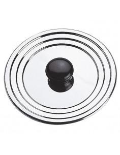 DE BUYER Cercle a tarte aux bords roulés perforés - Inox - Diametre : 28 cm - Hauteur : 2 cm