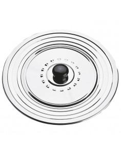 PAVONIDEA Cadre a pâtisserie rond micro perforé acier inoxydable 6/8 portions