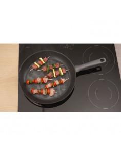 DE BUYER Poele grill en tôle blanche Mineral B Element - 32 cm