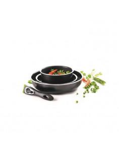 PYREX Set de 3 casseroles 16/18/20 cm avec une poignée gris