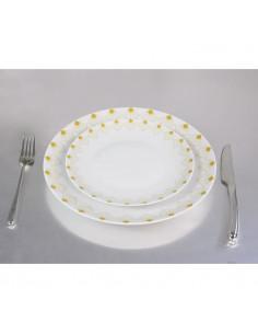 NOVASTYL Truecof 8022975 Lot 6 Assiettes Dessert 20,5cm - Multi Couleurs - Gres
