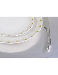 NOVASTYL Ibiza 8022976 Lot 6 Assiettes plates 26cm - Jaune - Faience
